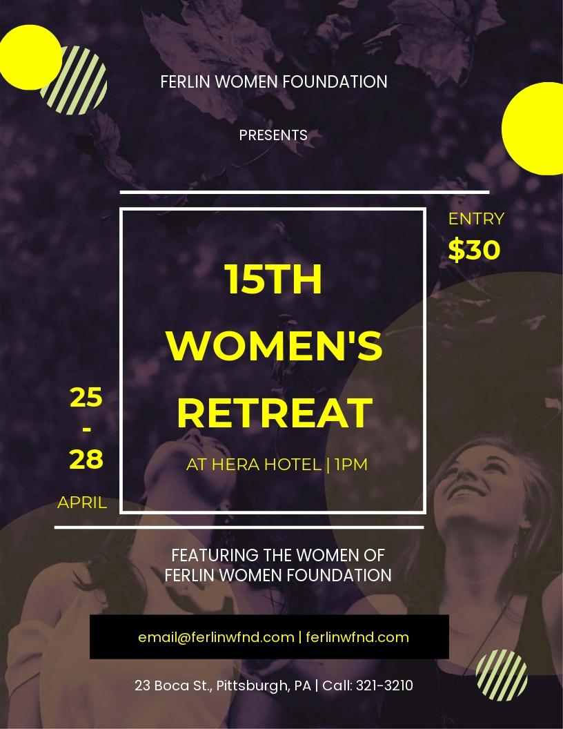 Women's Retreat Flyer Template