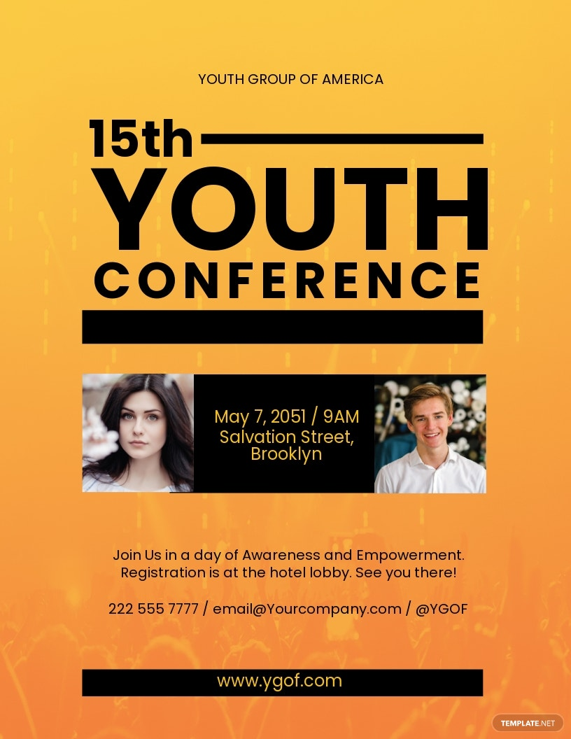 Youth Conference Flyer Template Word Doc Psd Indesign Apple Mac Pages Publisher Illustrator