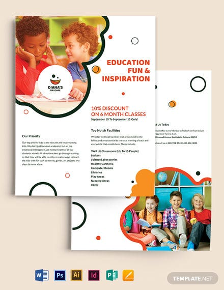 Diana's Daycare Flyer  Template