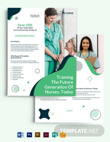 Eldridge School of Nursing Flyer Template