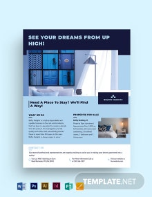 Apartment/ Condo Agent/Agency Flyer Template