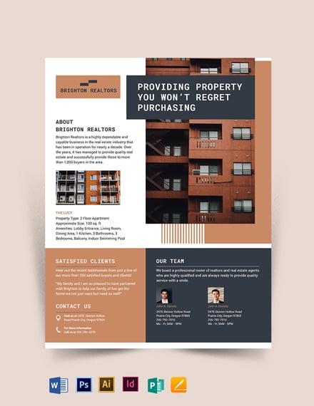 Apartment/Condo Flyer Template