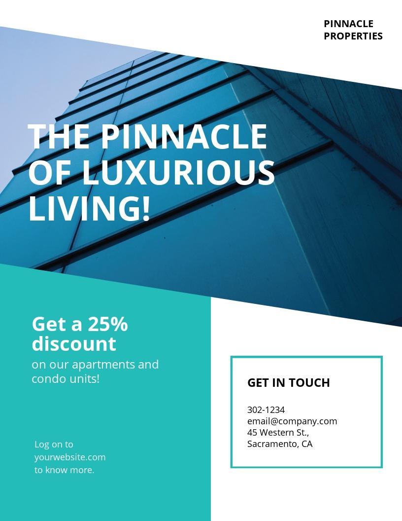 Apartment/Condo Marketing Flyer Template