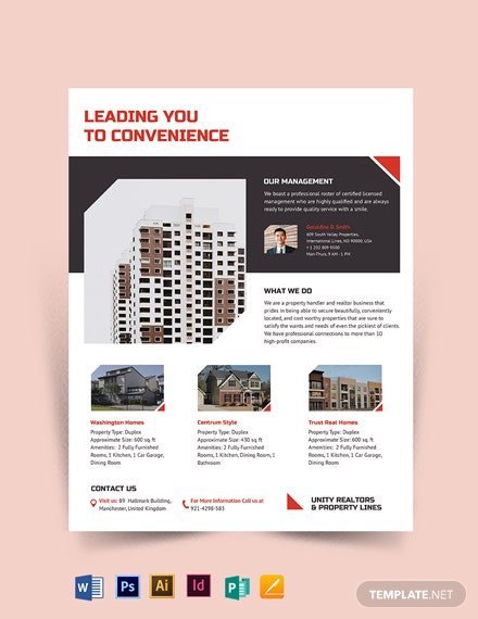 Apartment Condo Realtor Flyer Template