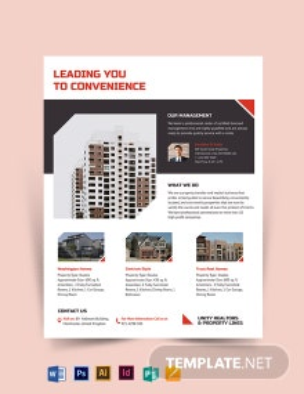 Apartment/Condo Realtor Flyer Template
