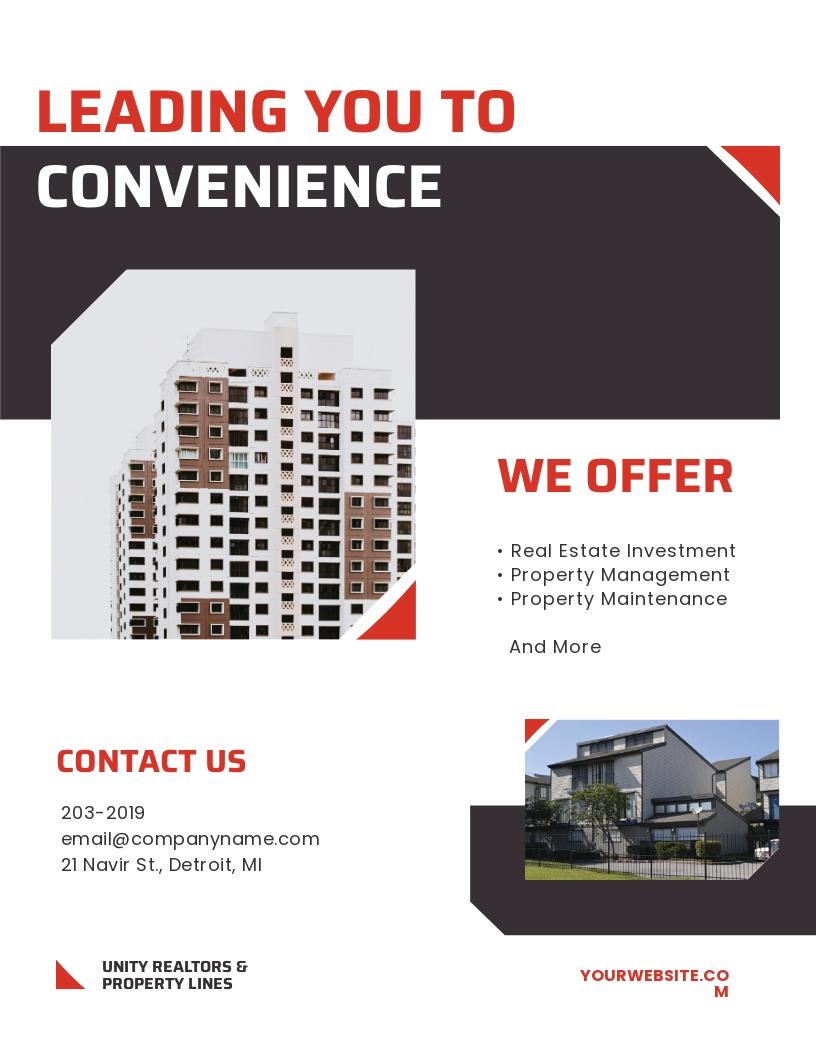 Apartment/Condo Realtor Flyer Template.jpe
