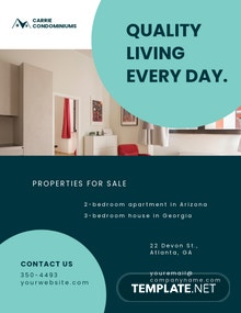 Apartment/Condo Sale Flyer Template