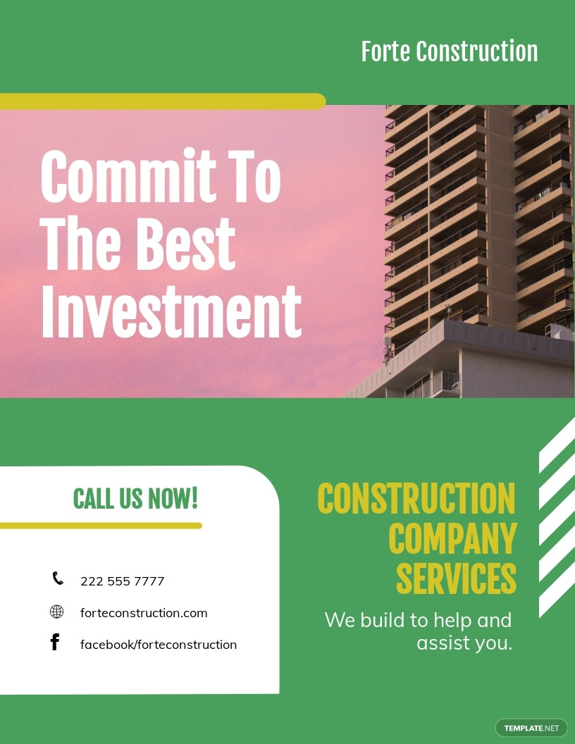 Construction Company Investor Flyer Template.jpe