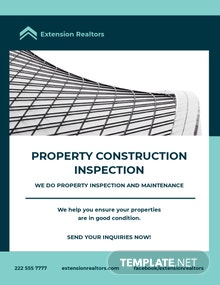 Construction Inspector Flyer Template