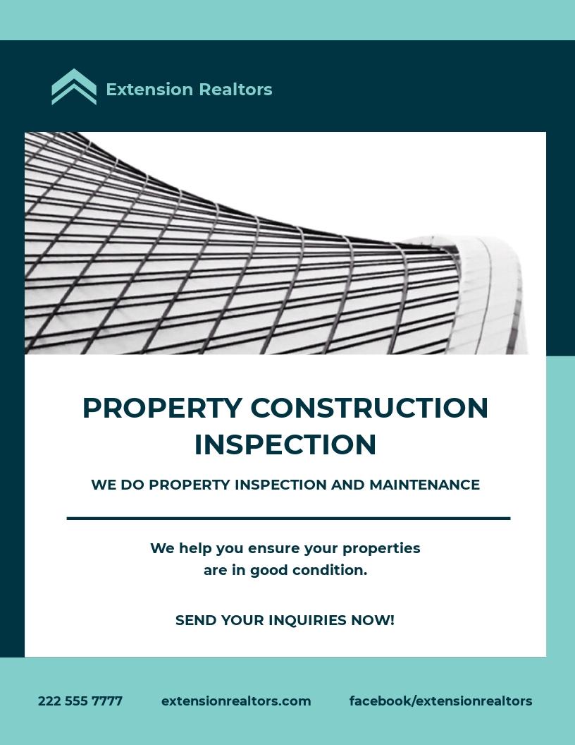 Construction Inspector Flyer Template