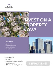 Land Real Estate Investor Flyer Template
