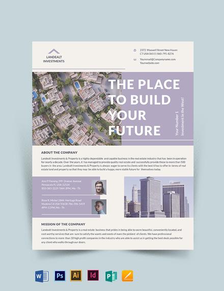 Land Real Estate Investor Flyer Template