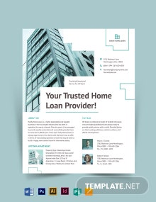 Home/House Loan Flyer Template