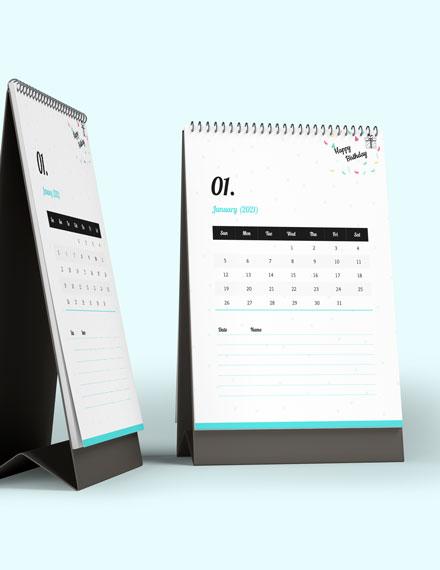 Birthday Desk Calendar Download