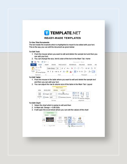 Blank School Calendar Instructions