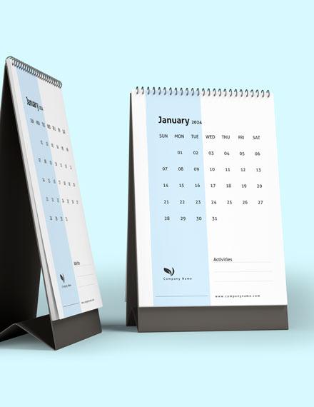 Business Activity Desk Calendar Download