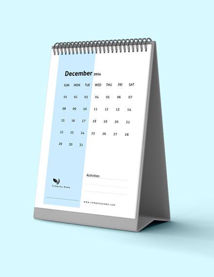 Sample Business Activity Desk Calendar