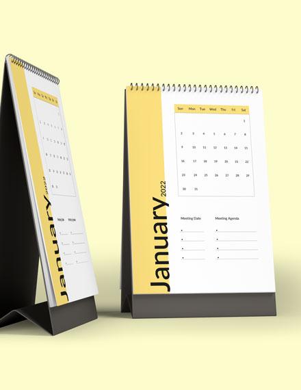 Business Meeting Desk Calendar Download