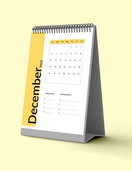 Sample Business Meeting Desk Calendar
