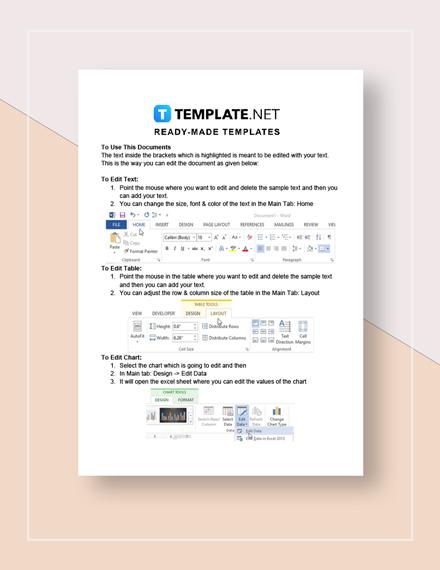Business Training Calendar Instructions