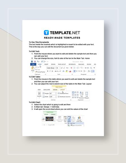 Business Travel Calendar  Instructions