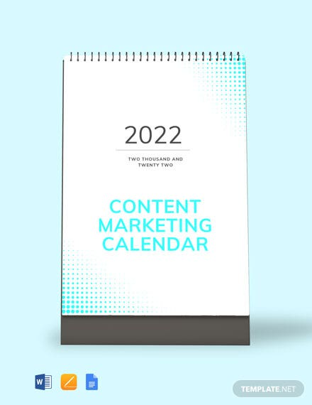 Content Marketing Desk Calendar Template