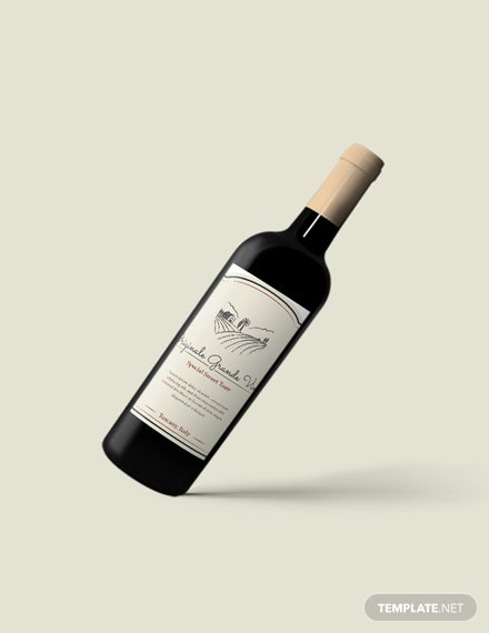 Free Sample Wine Label Template