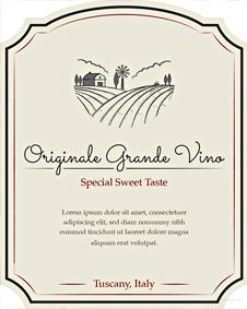 Free Sample Wine Label Template