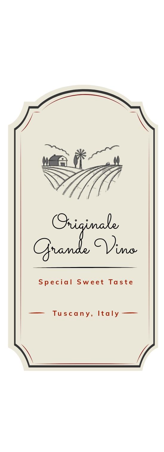Sample Wine Label Template