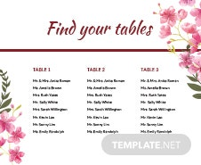 Free Table Seating Chart Template