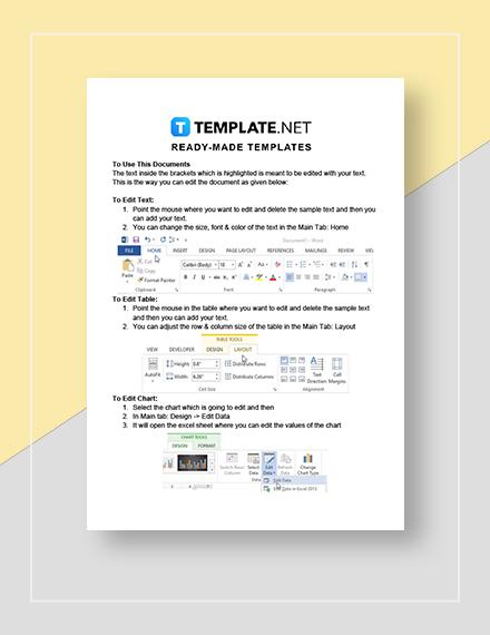 Ecommerce Marketing Calendar Instructions