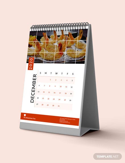 Sample Editable Business Desk Calendar