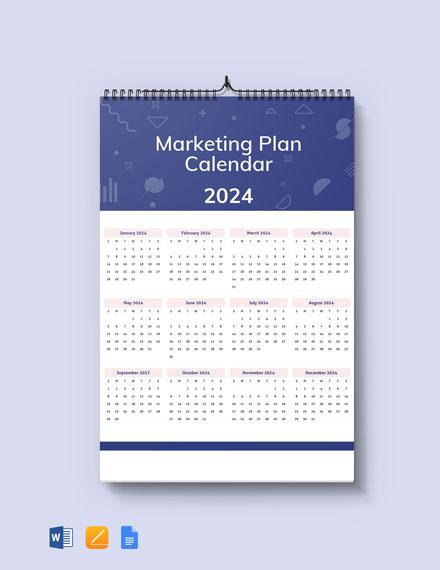 Marketing Plan Desk Calendar Template