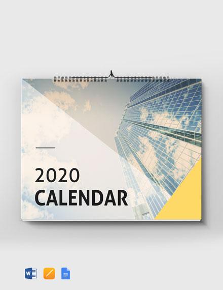 Modern Desk Calendar Template
