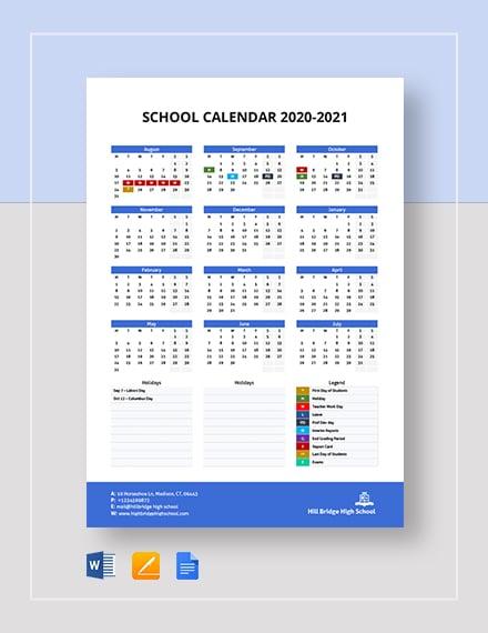 image regarding Printable School Calendar titled 23+ Faculty Calendar Templates - No cost Phrase, PDF Layout