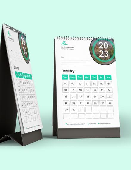 Real Estate Marketing Desk Calendar Download
