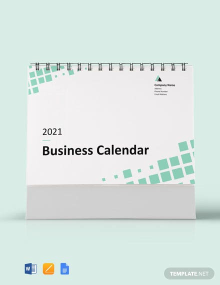 sample business calendar template