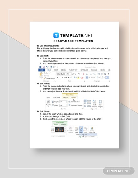Sample Marketing Calendar  Instructions