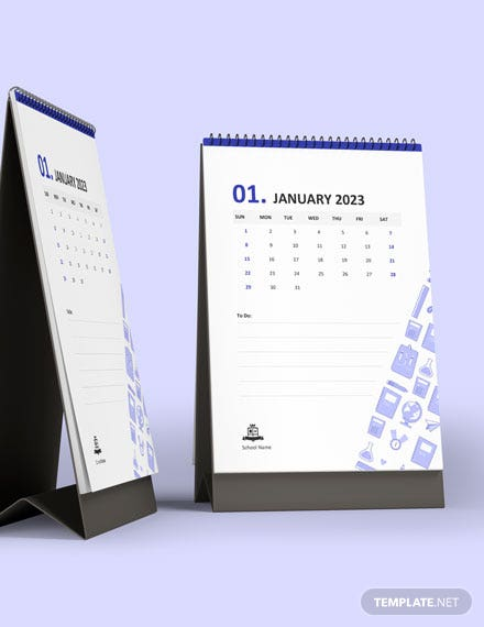 Student School Desk Calendar Download