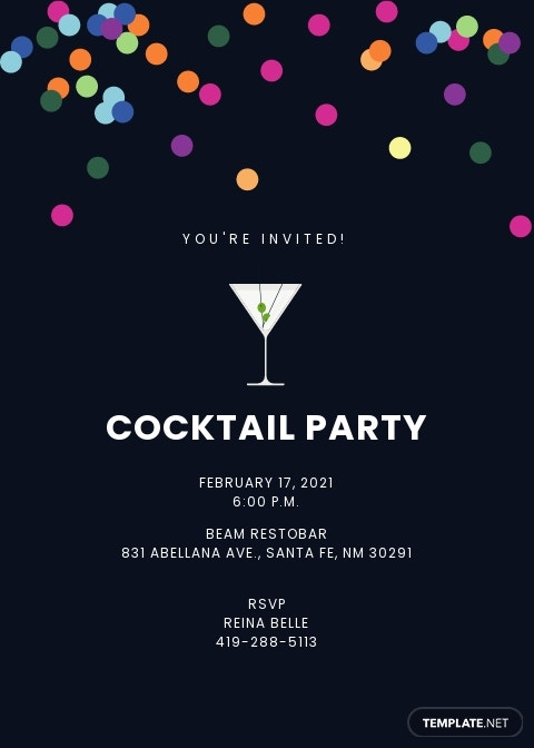 Cocktail Invitation Card Template