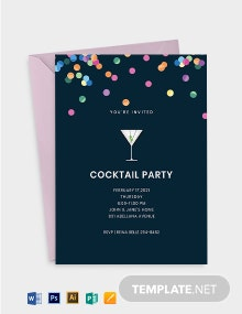 Cocktail Invitation Card Template