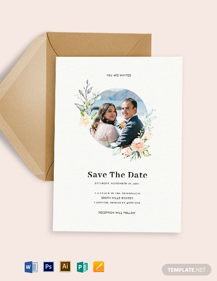 Photo Save The Date Invitation Template