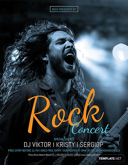 Free Rock Concert Flyer Template
