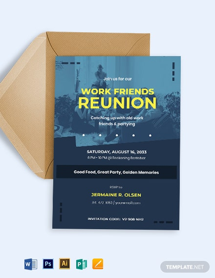 Printable Reunion Invitation Template