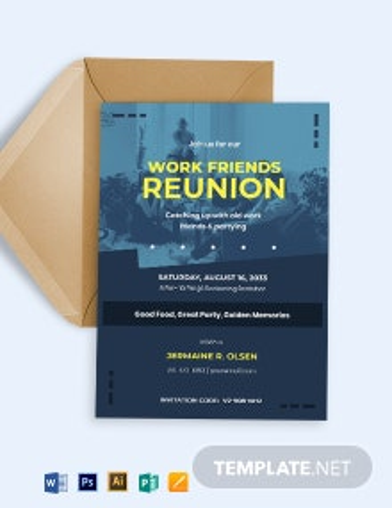 Printable Reunion Invitation Template