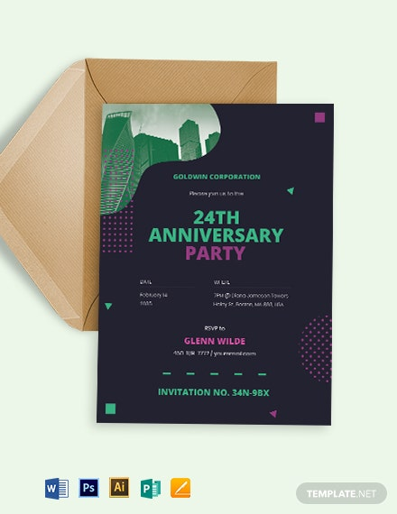 Professional Corporate Invitation Template