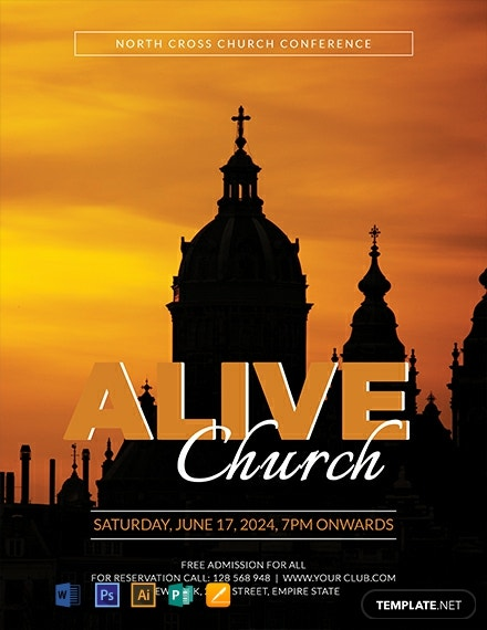 Free Alive Church Conference Flyer Template