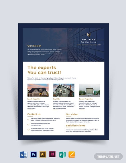 Professional Real Estate Company Flyer Template