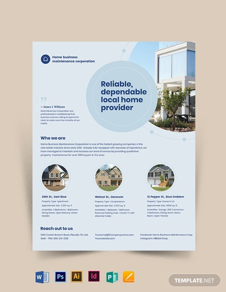 Property Maintenance Flyer Template