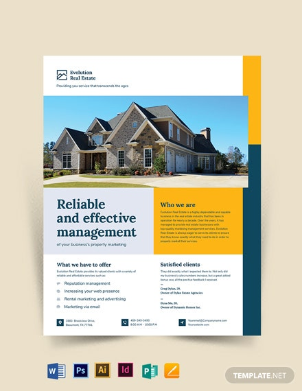 Property Management Marketing Flyer Template